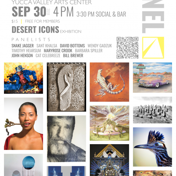 Art Panel for critically acclaimed 'DESERT ICONS' exhibition to be held SEP 30