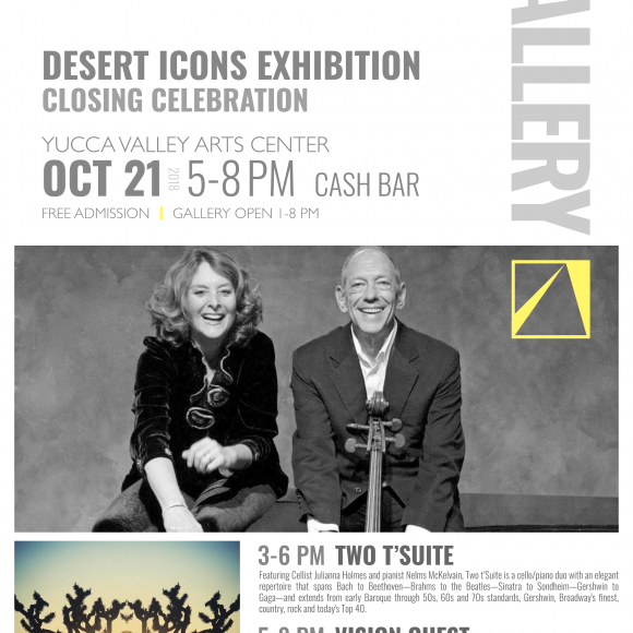 Closing Celebration for YVArts' acclaimed 'DESERT ICONS' art exhibition to feature live music and video jockeying OCT 21
